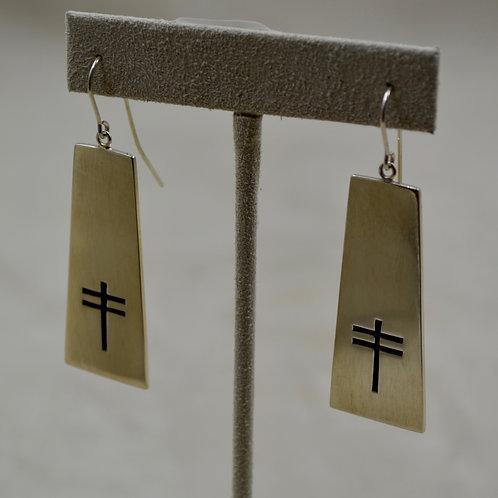 Sterling Silver Dragonfly Overlay Wire Earrings by John Paul Rangel