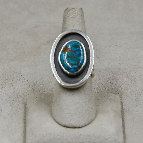 Hi-Grade Tyrone Turquoise 7x Ring from True West