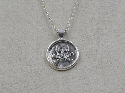 Sterling Silver Cast Skull on Chain by Michele McMillan