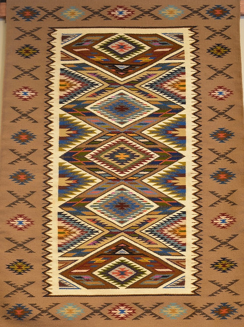 """Irene Littleben Teec Nos Pos Navajo Weaving - 53"""" X 37"""""""
