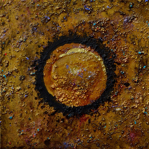 """Ceremonial Sun Series"" - Ac/Mixed on Canvas - 10"" x 10"" - by Doug Coffi"