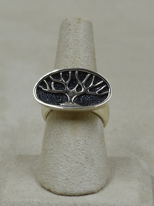 Sterling Silver Tree of Life 7x Ring by Roulette 18