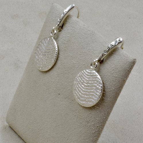 Cuttle Cast Sterling Silver Circle Earrings by Althea Cajero