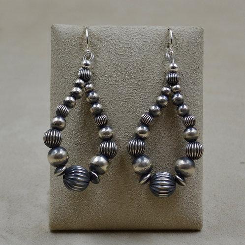 Oxidized Sterling Silver Small Teardrop Earrings by Shoofly 505