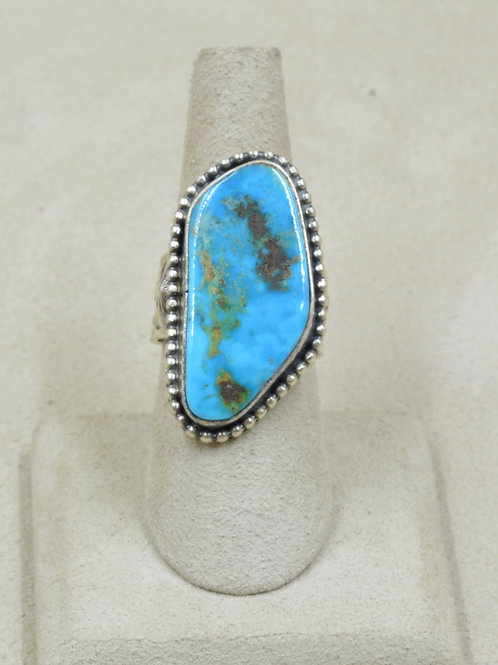 Natural Blue Gem Turquoise Adj. from 7x Ring by Janette Dale