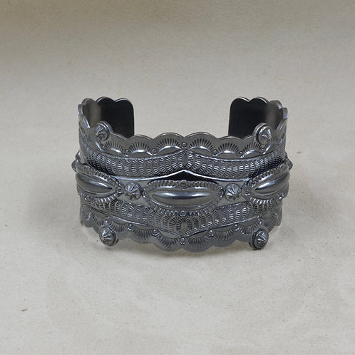 Stampe Repousse Black Patina Cuff by Fritz Casuse