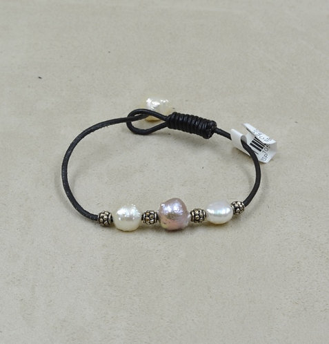 All Natural Rosebud Pearls Bracelet by US Pearl Co.
