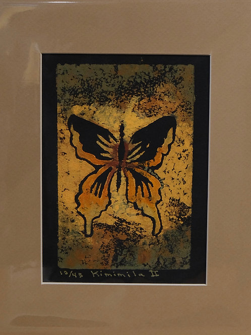 """Kimimila 2"" 12/45 Hand-Pulled Block Print by Sandy Swallow"