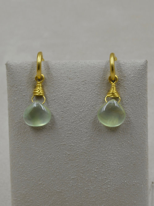 22k Gold w/ Prehnite Drops Only by Pamela Farland