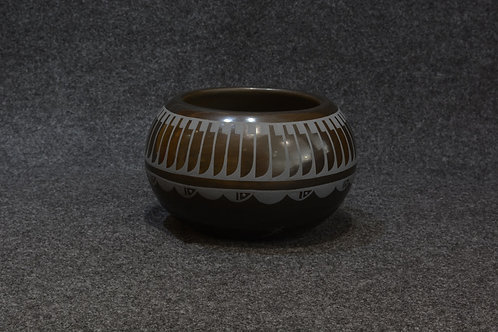 Medium Feather Bowl by Erik Fender, San Ildefonso Pueblo