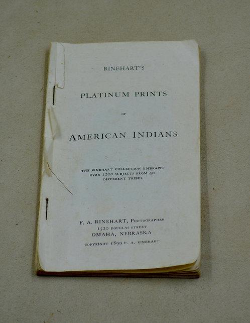 Antique Booklet/Rinehart - Platinum Prints of Native Americans