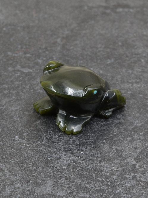 Frog Fetish - Dark Green Serpentine - by Tony Mackel