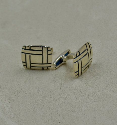 Hand-Forged Toggle Shank Sterling Silver Cufflinks by James Reid