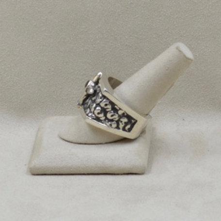 Ancestor Skull King's Ring with Anthill Garnett11X / 13X by JL McKinney