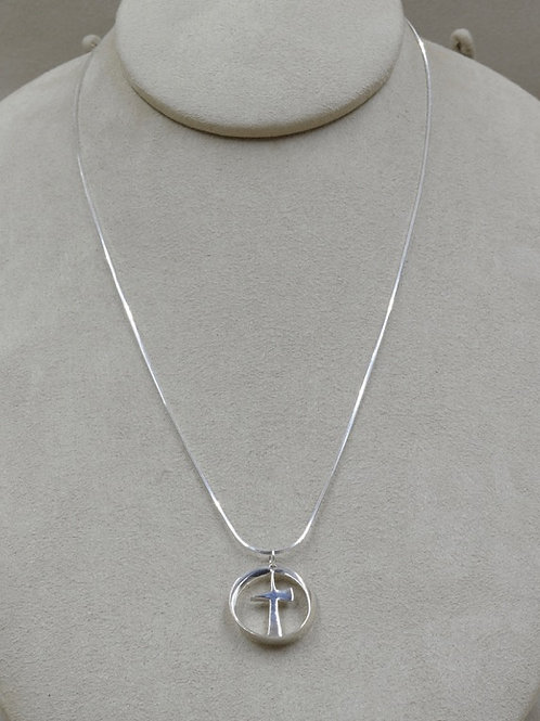 Sterling Silver Infinity Trinity Necklace by Charles Sherman