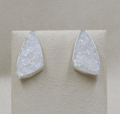 Northern Russie Druzy & Sterling Silver Earrings by Michele McMillan
