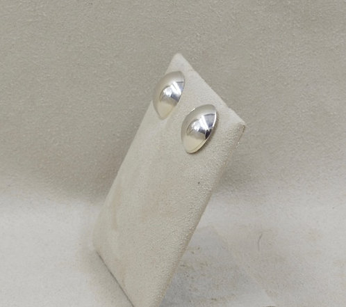 Sterling Silver Half Dome Earrings by Richard Lindsay
