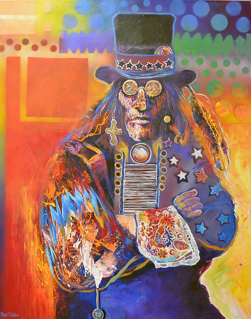 """""""Napi Top Hat"""" Acrylic on Canvas - 60"""" x 48"""" - by Farrel Cockrum"""