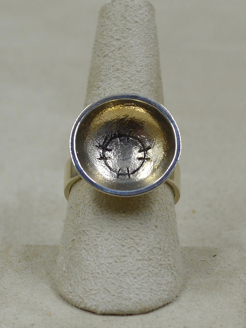 Sterling Silver Sun Cave Drawing 8x Ring by Roulette 18