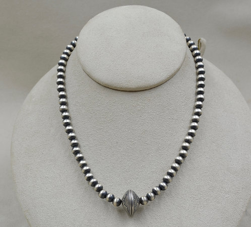 Oxidized Sterling Silver 6mm Necklace w/ Dime Enclosure by Maggie Moser