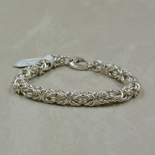 Handmade Sterling Silver Shiny Chainmaille Bracelet by Tom Schaefer