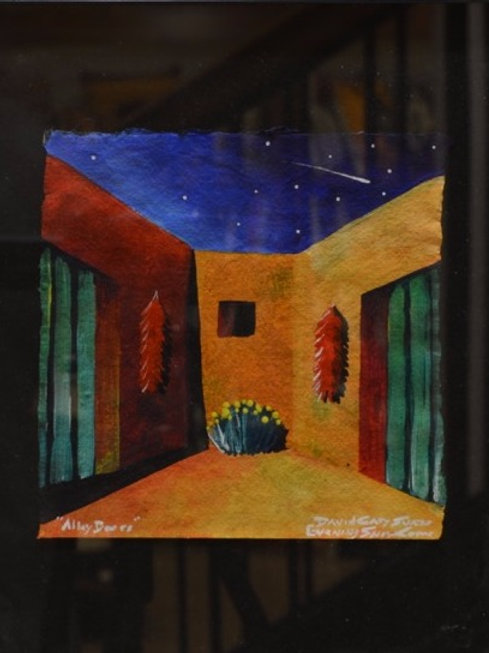 """""""Pueblo Night Scene #4"""" by David Gary Suazo, Taos Pueblo"""