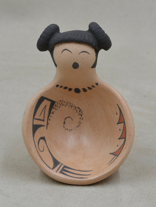 Small Hano Mana Bowl w/ Vegetal Paints and Kiln Fired by Valerie Namoki