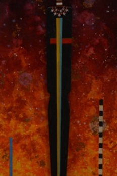 """""""Ceremony for the Crescent Moon"""" - M. Media/Collage - 48""""x11""""x4"""" by Felix Vigil"""