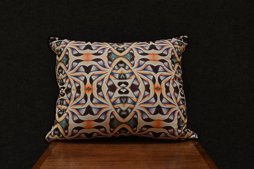 """""""Passion Flower 2"""" Art Pillow by Libby Chadd"""