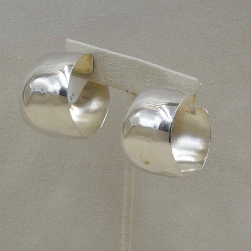 Large Sterling Silver Small Gail Hoop Earrings by Richard Lindsay