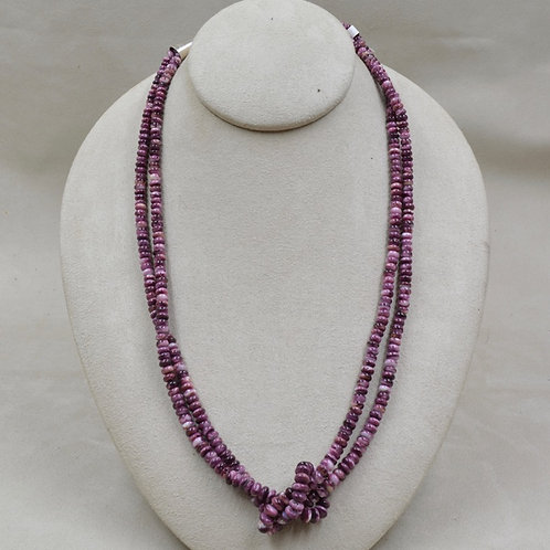 2 Strand Hi Grade Purple Spiny Oyster Necklace by Maggie Moser
