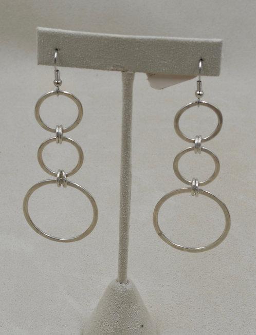 Sterling Silver Triple Hoop Hook Earrings by Jacqueline Gala