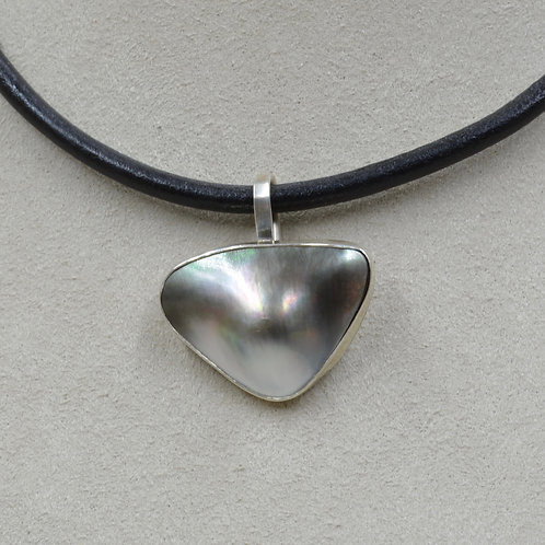 Blister Pearl and Sterling Silver Pendant by Joe Glover
