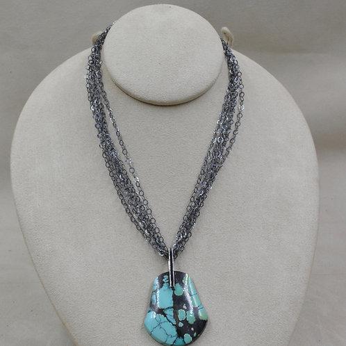6 Strand Oxidized Hematite Fine Chain by Reba Engel