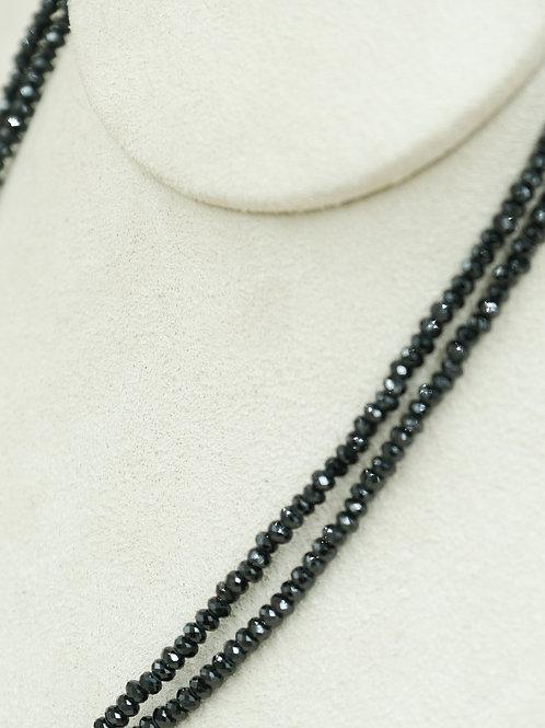Oxidized SS w/ Black Spinel, & Hematite Toggle Necklace by Reba Engel