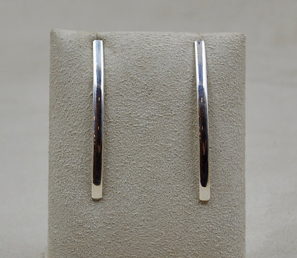 Sterling Silver 1/2 Round Post Abstract Earrings by Jacqueline Gala