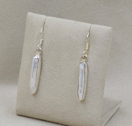 Freshwater Pearl Stick Earrings by Richard Lindsay