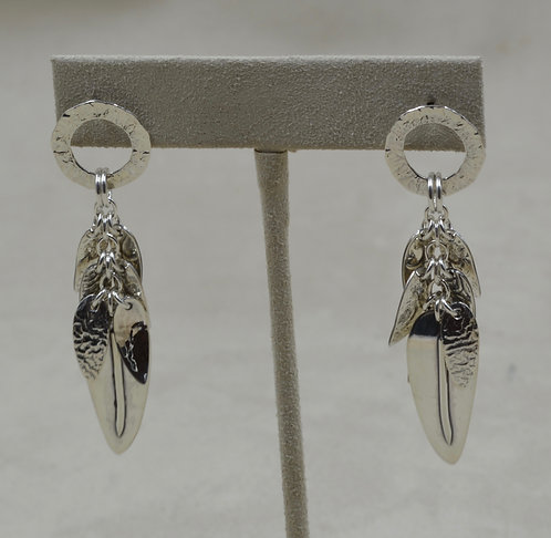 Leaves Sterling Silver Silla Earrings by Richard Lindsay