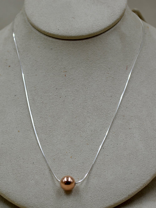 """Sterling Silver & 14k Rose Gold Filled 18"""" Eunity Necklace by Sippecan Designs"""