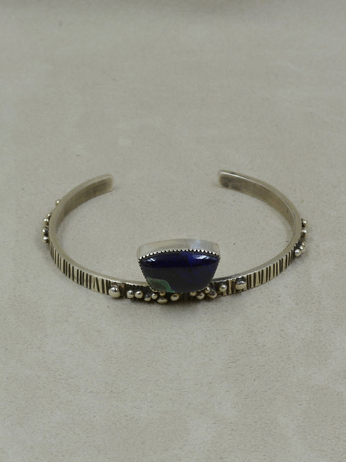 Sterling Silver Cuff w/ Azurite by Jacqueline Gala