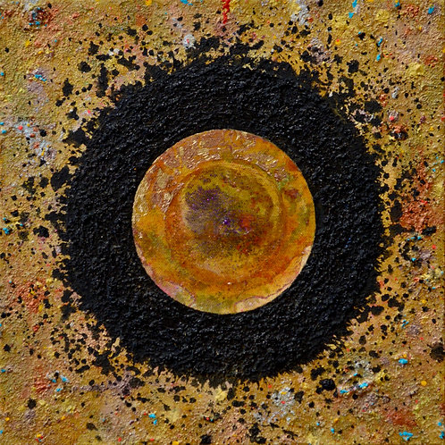 """""""Ceremonial Sun Series"""" - Ac/Mixed on Canvas - 12"""" x 12"""" - by Doug Coffin"""