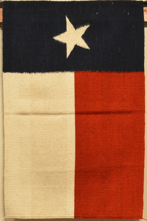 "Zapotec Texas Flag Rug - 37"" X 24"""