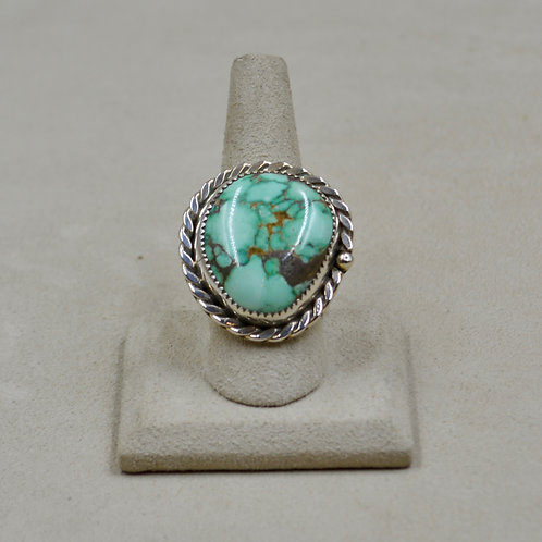 Candelaria Turquoise 10x Sterling Silver Ring by James Saunders