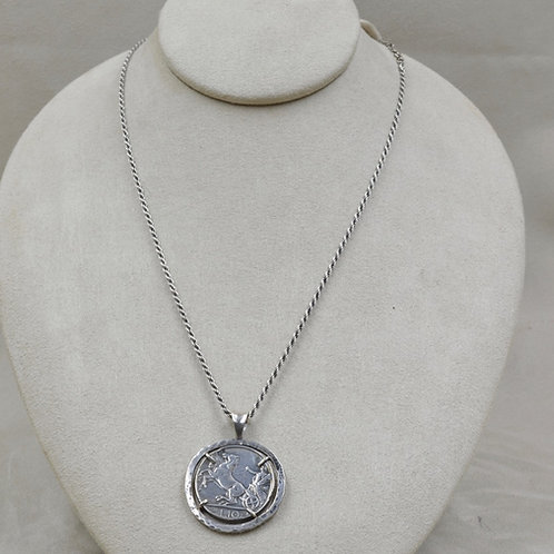 Sterling Silver Cast Italian Coin by Michele McMillan
