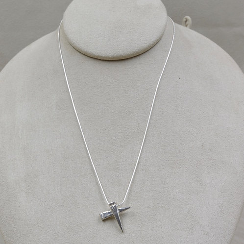 Sterling Silver Double Nail on SS Chain by Michele McMillan