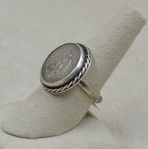 Mexican Coin Ring by Maggie Moser