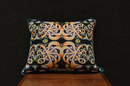"""""""Passion Flower"""" Art Pillow by Libby Chadd"""