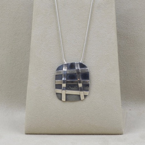 Sterling Silver Weave Pendant by Richard Lindsay