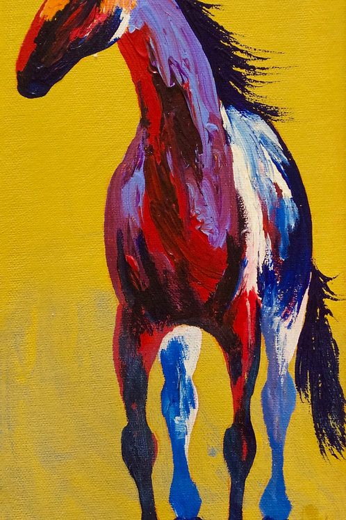 """'Hmmm...Wish I Was There' - Acrylic on Canvas - 15"""" x 6 1/2"""" - by John Saunders"""