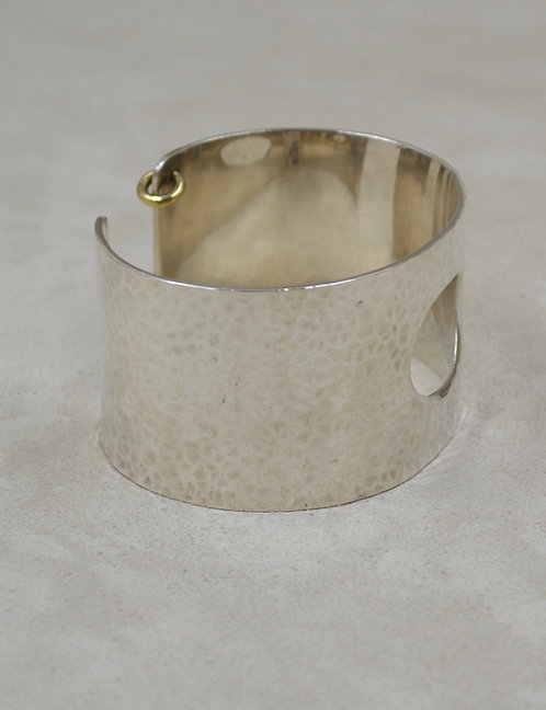 Sterling Silver Hammered Cuff w/ Cutout by Roulette 18